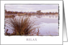 Relax card with a dawn landscape card