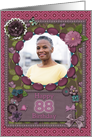 Scrapbooking effect 88th birthday card