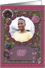 Scrapbooking effect 87th birthday card