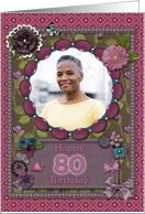Scrapbooking effect 80th birthday card