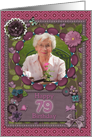 Scrapbooking effect 79th birthday card