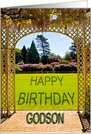 Pergola and garden Birthday card