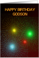 Fireworks and bright lights birthday card