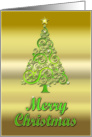 A Christmas tree card