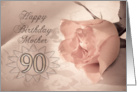 Happy birthday Mother, 90. card