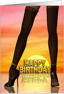 Sexy legs birthday card