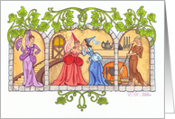 Scene from Cinderella Storybook- Blank Note card