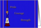 Pride, Courage and Strength card
