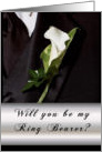 Will you be my Ring Bearer? card
