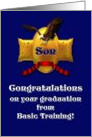 Son Congratulations on your Graduation from Basic Training card