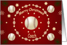 Christmas Card For Baseball Coach card