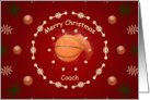 Christmas Card For Basketball Coach card