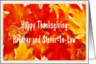 Thanksgiving Card For Sister-In-Law card