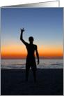 Sign Language ILY Sunset card