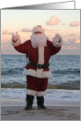 Santa Sends His Love! Sign Language I Love You card