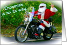 Sign Language Motorcycle Santa card