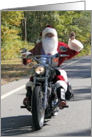 Sign Language I Love You Santa on Chopper card