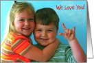 Adorable Brother & Sister card