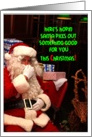 Santa's Pickin Something Good for You! card