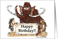 Mammoth Birthday card