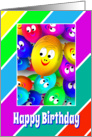 Happy Face Balloons Birthday Card For Kids card