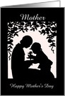 Mother and Child Silhouette Mother's Day Card/Custom card
