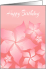 Happy Birthday Card With Floral Abstract Design card
