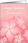 Birthday Card With Floral Abstract Design/For Granddaughter card