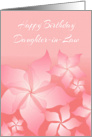 Birthday Card For Daughter-in-Law/Floral Design card