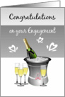 Congratulations/Engagement/Champagne/Hearts card