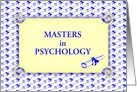 Congratulations/Graduation/Masters in Psychology/Custom card