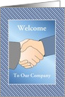 Business Welcome To Our Company/Handshake/Custom card