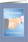 Business Welcome To Our Company/Handshake/Woman/Custom card