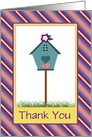 Cute Thank You Birdhouse and Bird/Card For Realtor/Custom card