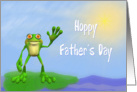 Hoppy Father's Day Frog-For Father-Humor card
