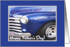 Father's Day-Classic Blue Car Grill-Photo card