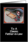 Father's Day-Classic Car and Wagon-For Father-in-Law card