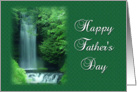 Father's Day-Serene Waterfall Landscape card