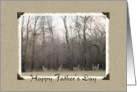 Father's Day Deer in Nature-Scrapbook Design card