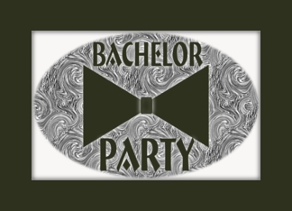 Black Bow Tie-Bachelor Party Invitation Greeting Card