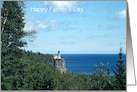 Father's Day-Lighthouse On The Rocks Landscape-Custom card