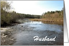 Father's Day-River Landscape-For Husband-Custom Card