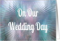 On Our Wedding Day-For Wife-Blue/Purple Abstract Art card