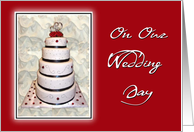 Wedding Cake On Our Wedding Day-For Wife card