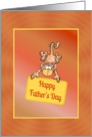 Hanging Monkey Father's Day Card