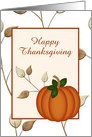 Happy Thanksgiving-Pumpkin-Leaves-Halloween-Custom card