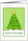 Season's Greetings-Christmas Tree with Snow-Custom card
