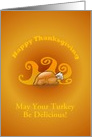 Happy Thanksgiving Turkey-Customizable Card