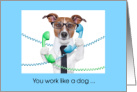 Work Like A Dog Employee Appreciation Card