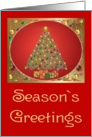Christmas-Seasons Greetings-Tree-Gifts card